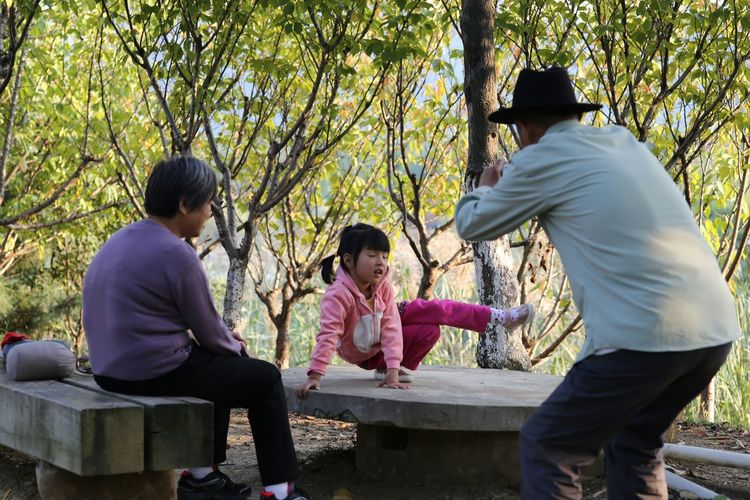 The Purist (no Edit, No Filter) Anhui,China Girl Family Children Little Girl Taking Photos Grandpa Grandma Check This Out