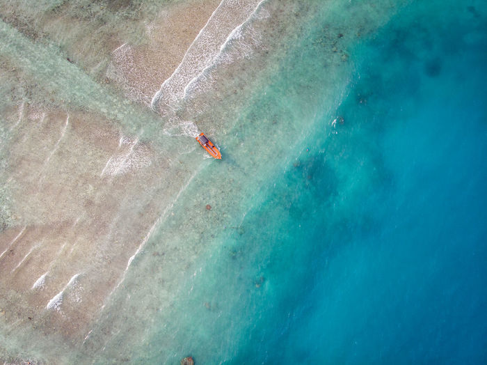 ASIA Perhentian Island Wave Aerial Aerial View Blue Boat Day Malaysia Nature Ocean Outdoors Sea Terengganu Turquoise Colored Water