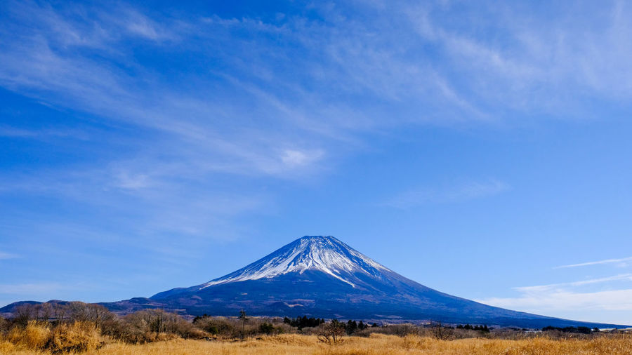 Mt.Fuji Beauty In Nature Blue Bulue Sky Day Landscape Mountain Nature No People Outdoors Scenics Sky Tranquil Scene Tranquility