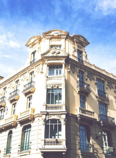 #madrid Architecture Low Angle View Built Structure Window Building Exterior Sky Day