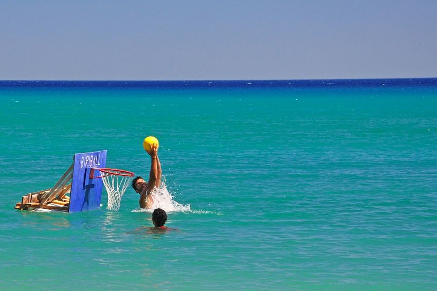 Blue Wave Basketball Water Deep Blue Deep Blue Sea Shades Of Blue Summertime Summer Views Summer People Having Fun Enjoying Life Lifeisbeautiful Playing Sunny Day - Greek Islands Chios Greece