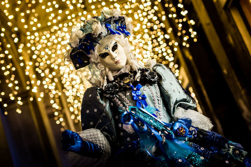 The Carnival of Venice Night Photography Nightphotography Tradition Travel Traveling Beautiful Woman Blur Bokeh Celebration Christmas Decoration Christmas Lights Close-up Glitter Gold Colored Illuminated Indoors  Night Nightlife One Person People Real People Venetian Mask Venice Young Adult Visual Creativity Adventures In The City