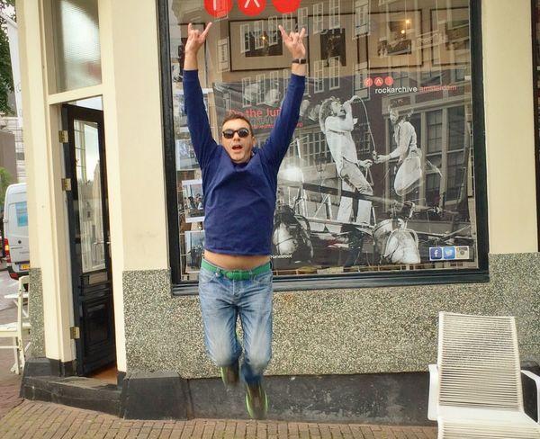 Selfie Jumping Rock N Roll Amsterdam