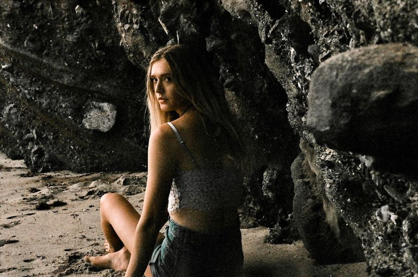No boundaries. Jessica on film, grain is good✨ Film Photography Film Sand Laguna Cave Rocks Grainy Photo Grainy Images Grainy Grain EyeEm Selects Only Women Adult One Woman Only Sand Adults Only People One Person Women Young Adult Young Women Summer Nature One Young Woman Only Beach Outdoors Portrait Day Beauty Close-up EyeEm Ready   EyeEm Ready