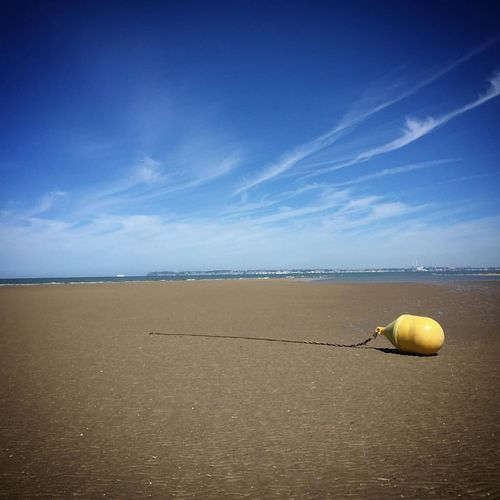 Scenic View Of Buoy On Beach