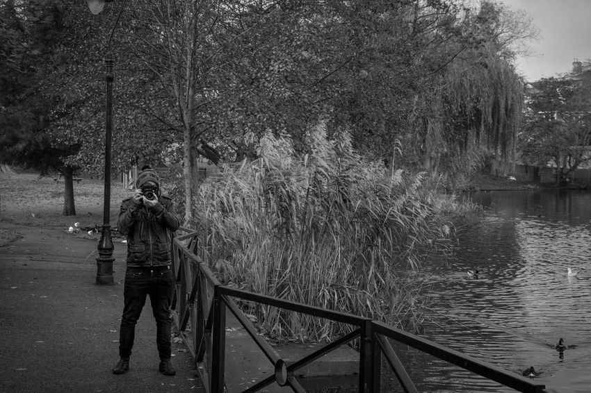 Real People Tree Water Outdoors One Person Nature Standing Day Full Length Leisure Activity Lifestyles River Beauty In Nature Young Adult People Photographer Photography Blackandwhite