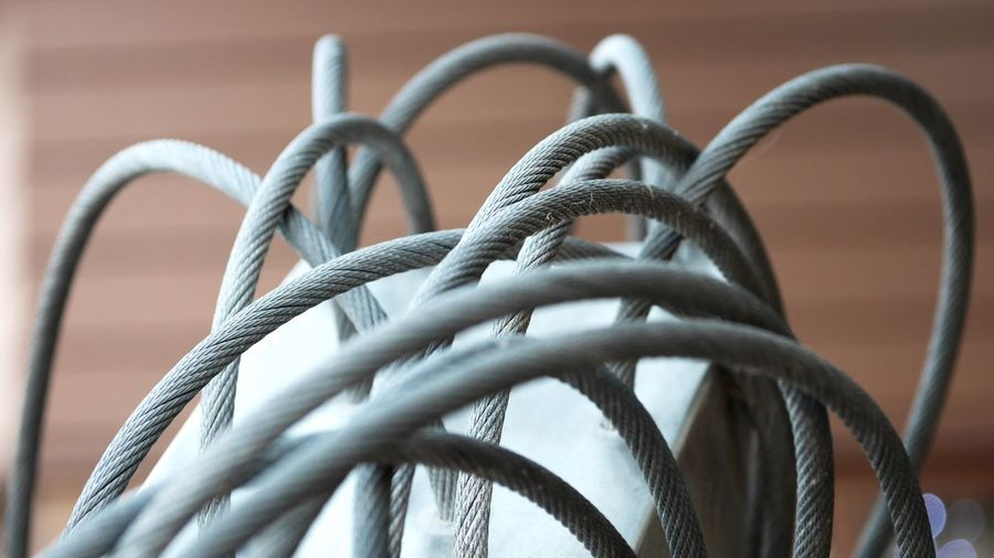 Close-up Connection No People Cable Indoors  Focus On Foreground Metal Technology Communication Still Life Complexity Man Made Object Tangled Equipment Twisted Selective Focus Backgrounds Pattern