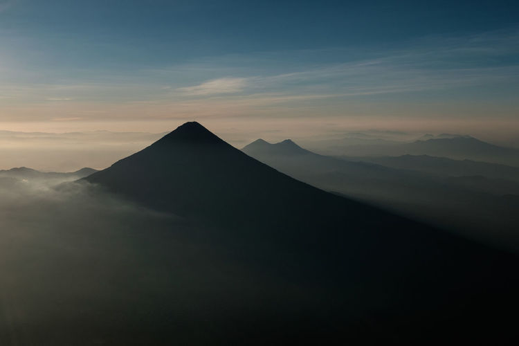 Acatenango Adventure Beautiful Calm Central America Fujifilm Fujifilm_xseries Geology Guatemala Haze Hiking Horizon Layers Mountain Nature Nature_collection Outdoors Peak Serenity Steep Sunrise Traveling Trekking View Volcano