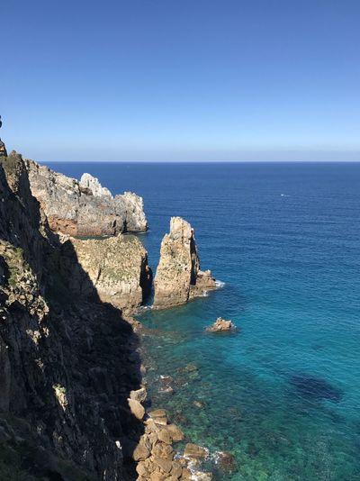 Nebida dalle miniere Sardinia Sardegna Italy  Sardinia Sardegna EyeEm Selects Sea Water Sky Beauty In Nature Horizon Over Water Horizon Blue Scenics - Nature Nature Rock Beach Rock - Object