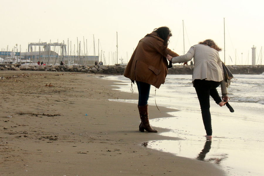 Beach Girl Power Harbour Sea Shore Socks Wintertime Women Balance Friendship Enjoy The New Normal