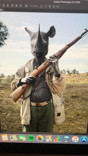 🔄 Wilderen Nashorn Rhinoceros Front View Field One Person Scarecrow Day Standing Weapon Men First Eyeem Photo