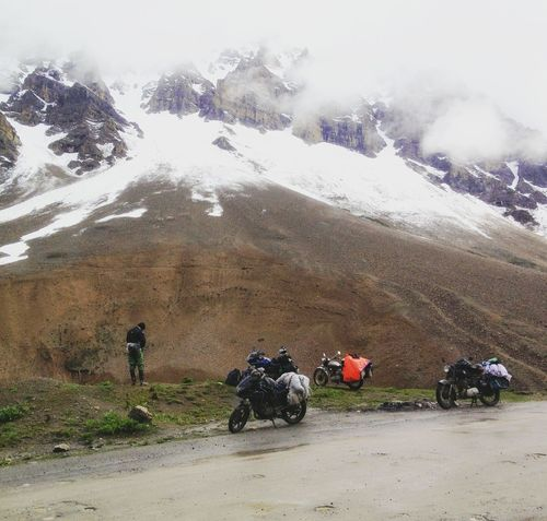 When the mountains are your destiny Mountains Himalayas Riding Bike Motorcycle Motorbike Explore Adventure Ladakh Leh LADAKH ON THE WAY Real People Day Men Outdoors Leisure Activity Motorcycle People Adult Nature Lifestyles Only Men Mountain himachal Himachalpradesh Adventures Visual Feast