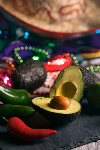 Mexican Cinco De Mayo series with colorful lights, food, drink and party items! Celebration Cinco De Mayo Cinco De Mayo! Holiday Mexican Culture Avocado Cinco Mexican Party