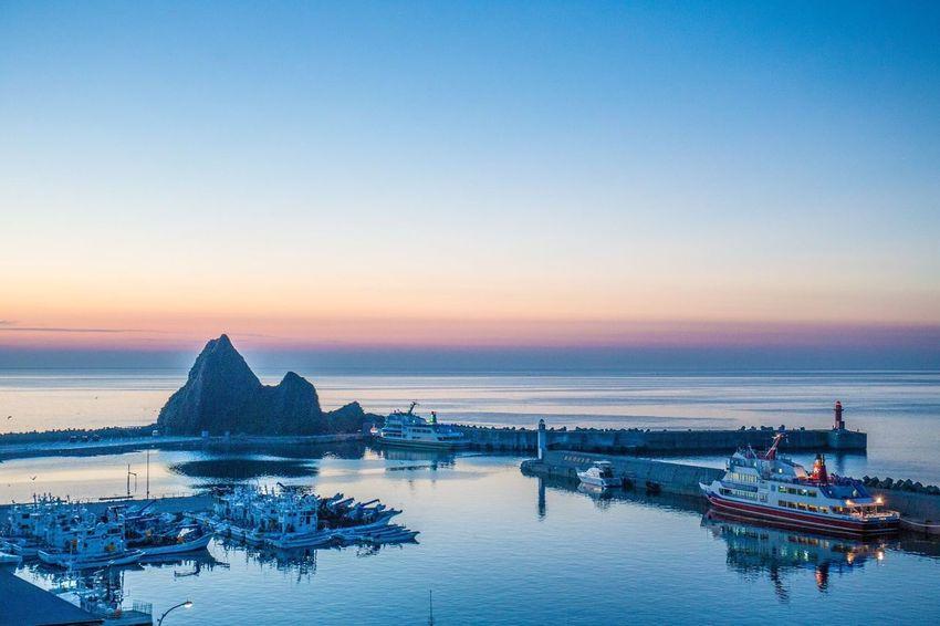 北海道 知床 ウトロ ウトロ港 オホーツク海 Hokkaido Shiretoko Utoro Magic Hour Sunset