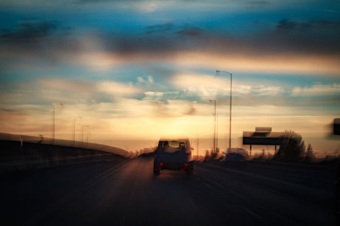 Psychadelic Roadway Cloud - Sky Day Dramatic Sky Dusk Nature No People Outdoors Road Sky Storm Cloud Sunset Transportation