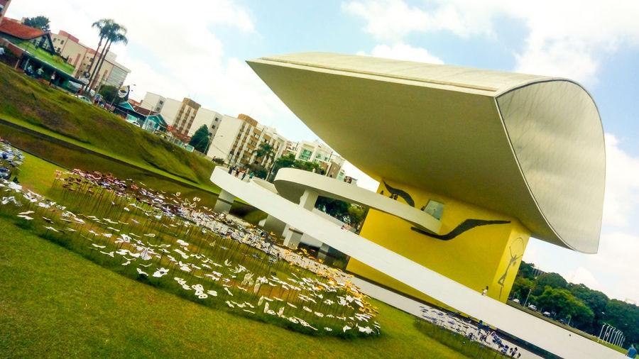 Museo do Olho Curitiba de Oscar Niemeyer Museo Oscar Niemeyer Olho Day Architecture Building Exterior Built Structure