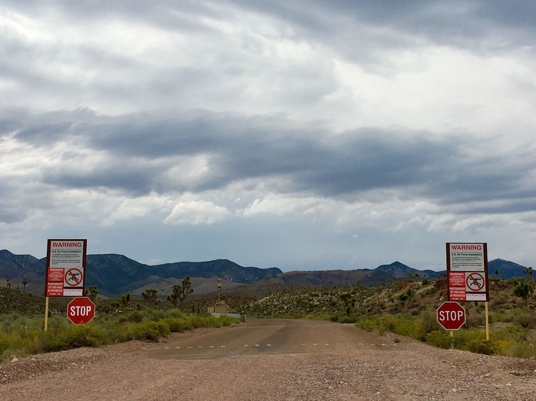 Area 51 Security Warning Sign Nevada Secret Military Installations Lost In The Landscape