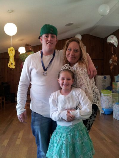 Me, My Son Chris And My Niece Bree At Babyshower
