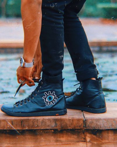 Ring Jordan Sneaker Sneakers EyeEm Selects Human Body Part Low Section Body Part Human Leg Shoe One Person Human Limb Real People Lifestyles Outdoors Adult Leisure Activity Limb Day Close-up Standing Men Focus On Foreground Jeans Women
