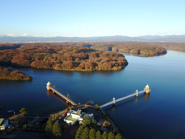 Aerial View Architecture Autumn Beauty In Nature Bridge - Man Made Structure Built Structure City Cityscape Connection Ferris Wheel Finding New Frontiers Mountain Nature Nautical Vessel No People Outdoors Reflection River Scenics Sky Transportation Travel Destinations Tree Urban Skyline Water