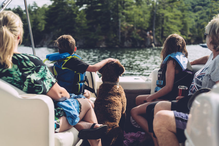 Family Looking Away Summertime Boat Day Leisure Activity People Pet Petting Zoo Summer Camp This Is Family