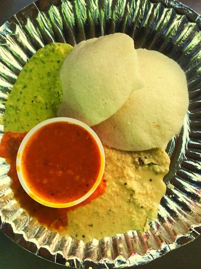 The simple Idly with colorful Sides reflects South Indian speciality Food EyeEm Best Shots