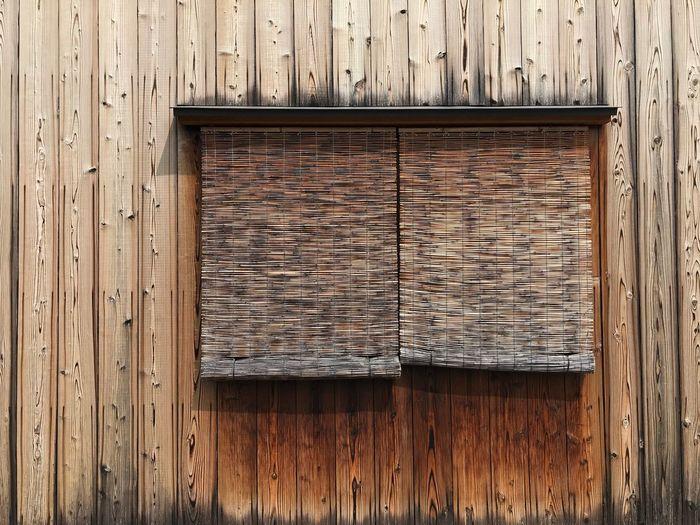 簾 Kyoto Window Wood - Material Textured  No People Pattern Day Protection Safety