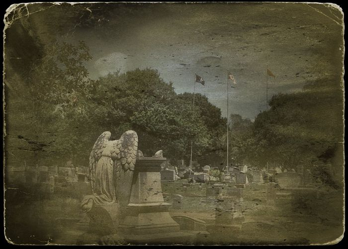 Weepingangel Mississippi  USA DistressedFX Marbledstone Cemetary Frindshipcemetary Tampagirl