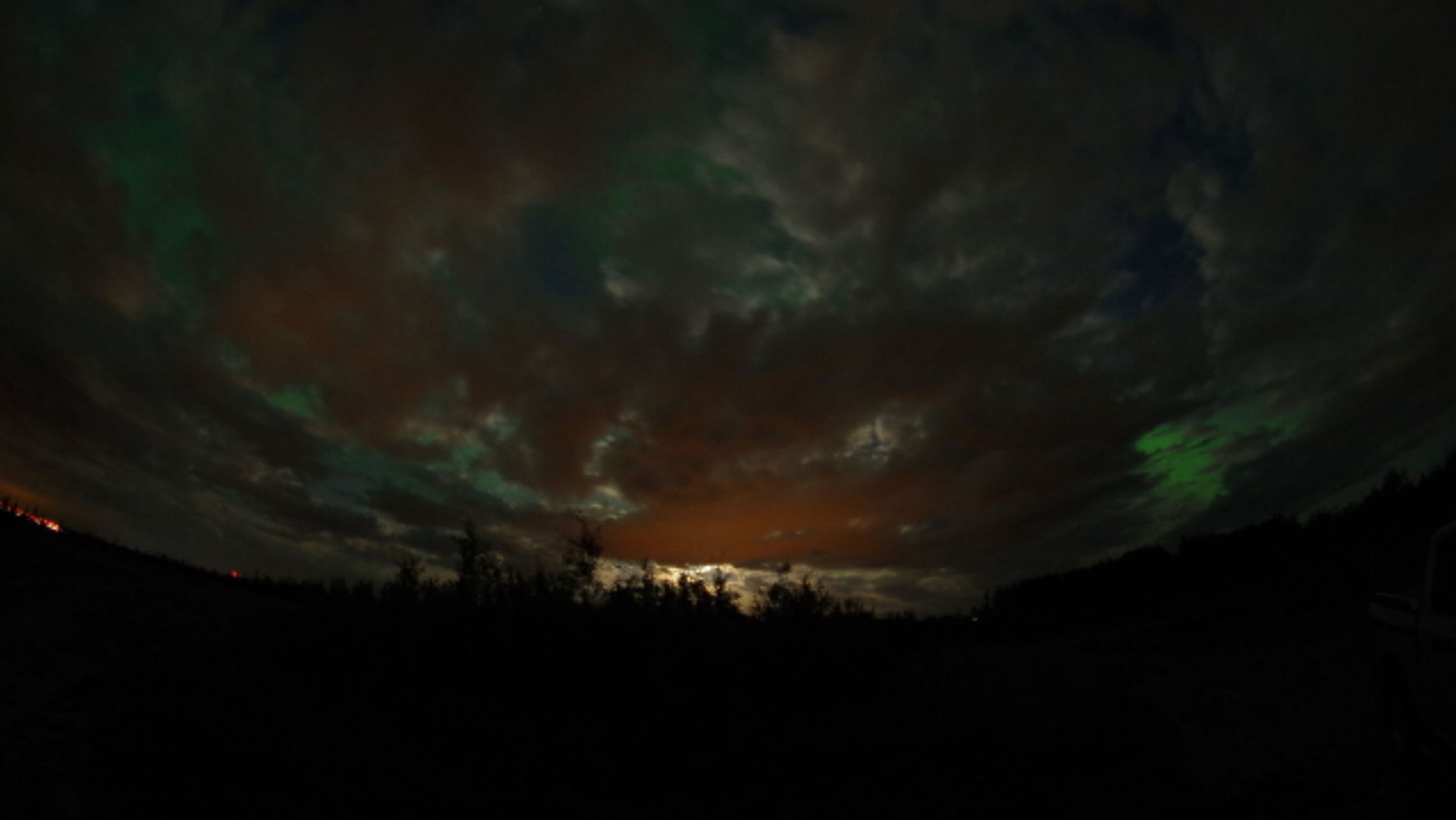 sky, scenics, silhouette, tranquil scene, tranquility, beauty in nature, cloud - sky, tree, nature, cloudy, landscape, dramatic sky, idyllic, dark, dusk, storm cloud, sunset, weather, night, overcast