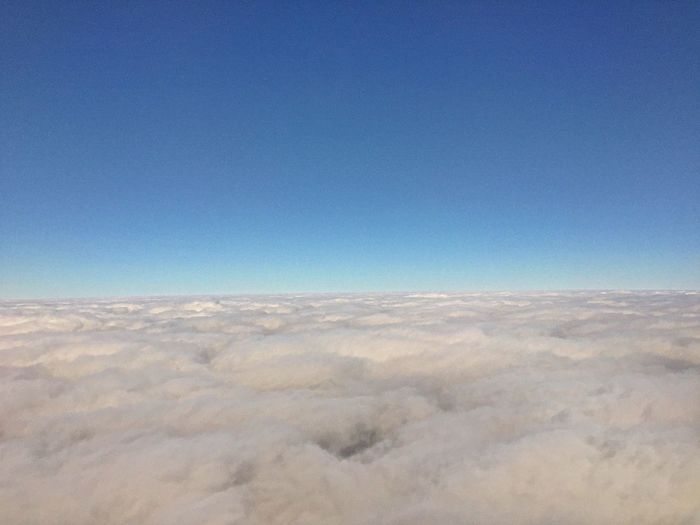 Clouds And Sky Cloud Sea (雲海) Cloudland Sea Of clouds Sky From An Airplane Window