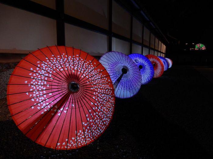 Japanese Style Matsuyama Castle Lightup 松山城二の丸 光の庭園