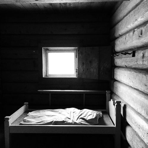 Fort Ross Bed Wooden Log Cabin Window The Architect - 2015 EyeEm Awards