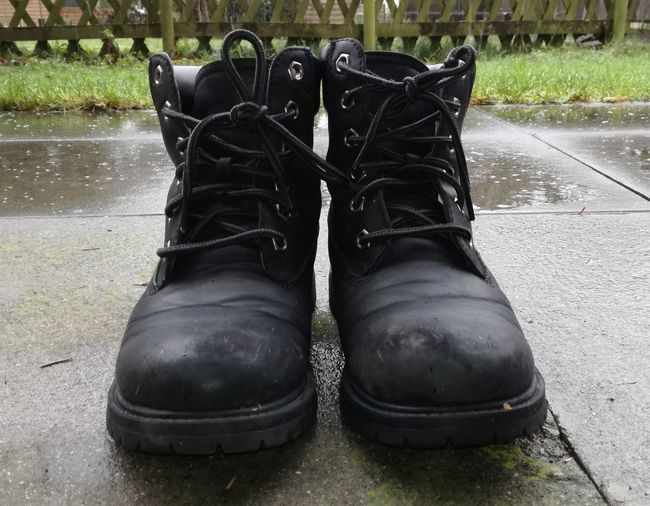 Black Winter Boots Black Winter Boots Boots Winter Boots Smartphone Pic Black Color Wet No People Day Water Outdoors