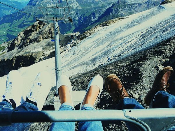 Anne, myself and Don Scarry Enjoying The View Skylift Mount Titlis Zurich, Switzerland