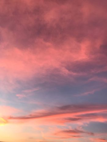 Sunset Cloud - Sky Sky Pink Color Orange Color Sunset Beauty In Nature Dramatic Sky Cloudscape Scenics - Nature Backgrounds Tranquility Nature Tranquil Scene Idyllic Purple Low Angle View No People Magenta Dusk Outdoors