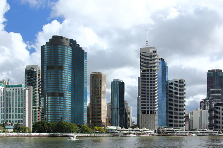 Brisbane Skyline Look from Brisbane River Brisbane Brisbane City Architecture Brisbane River Building Exterior Built Structure City Cityscape Cloud - Sky Day Downtown District Modern Nature No People Outdoors River Sky Skyscraper Tall - High Urban Skyline Water