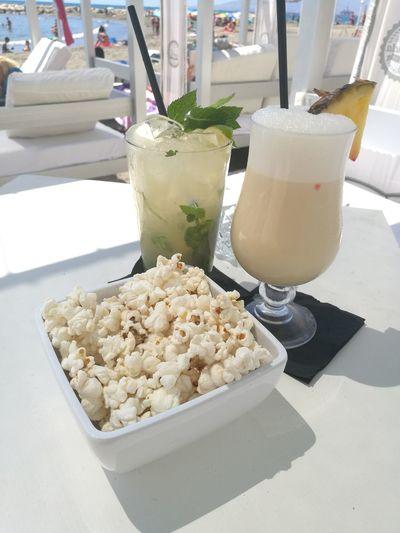 Piña Colada Mojito! 🍹 Drink Refreshment Beach SPAIN Malaga Nofilter Takemeback Soakingupthesun