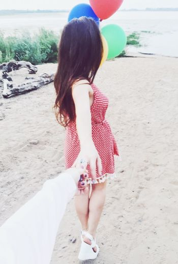 EyeEm Selects Old Shoot • Girl with Balloons • Beach Sand • Red Dress Followme • Wildlovers