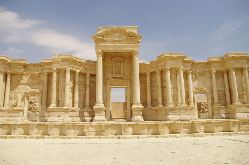 Palmyra Ruins Syria  Ancient Ancient Civilization Archaeology Architectural Column Architecture Building Exterior Built Structure Cloud - Sky Day History No People Old Ruin Outdoors Pillar Sky The Past Tourism Travel Travel Destinations