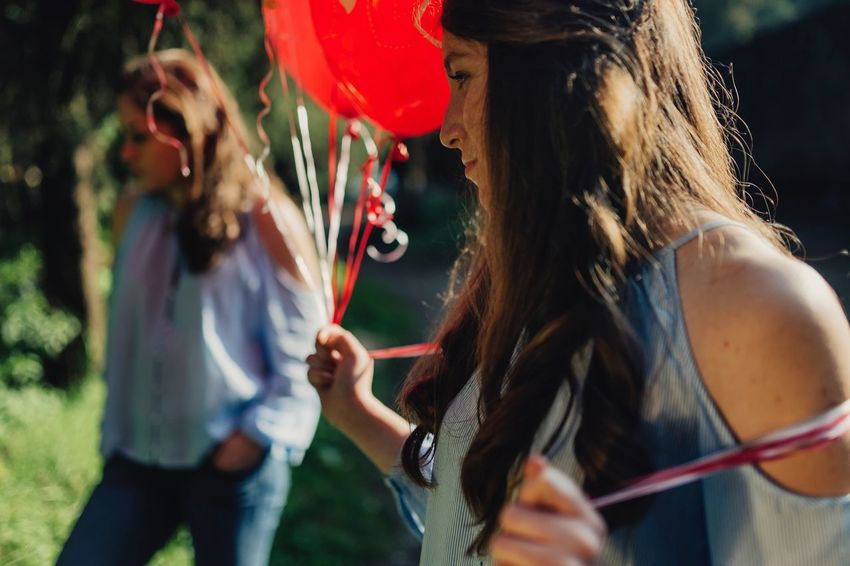 EyeEm Selects Photography Red Focus On Foreground Long Hair Real People Outdoors Young Women Tree mexico