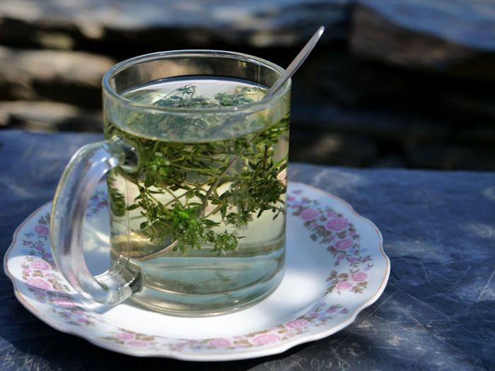 Tea Mountain Tea Caucasus Georgia Drink Food And Drink Herb Drinking Glass Tea - Hot Drink No People Outdoors Water Close-up Day Freshness Mountains Traveling Travel Food Stories
