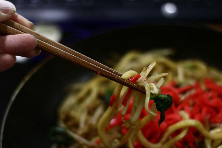 Detail shot of noodles