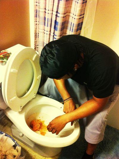 Prada throwing up lmfao !!