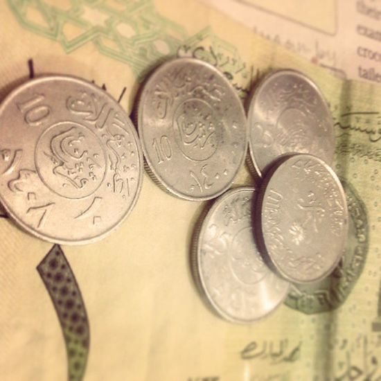 Found some Old coins ...I wonder what they did with 10 halalas . Riyals 1riyal 10and25halala Oldcoins