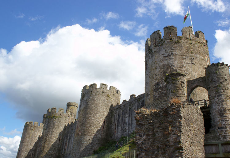 Architecture Built Structure Building Exterior History Low Angle View Tower Old Travel Destinations Tourism The Past Famous Place Travel Sky Old Ruin Tall - High Ancient Castle Medieval Cloud - Sky Outdoors Conwy Castle