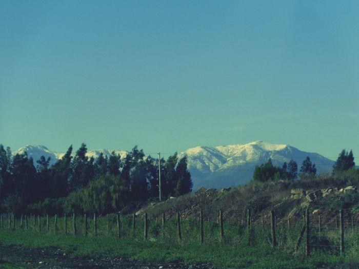On The Road Blue Sky Cordillera De Los Andes
