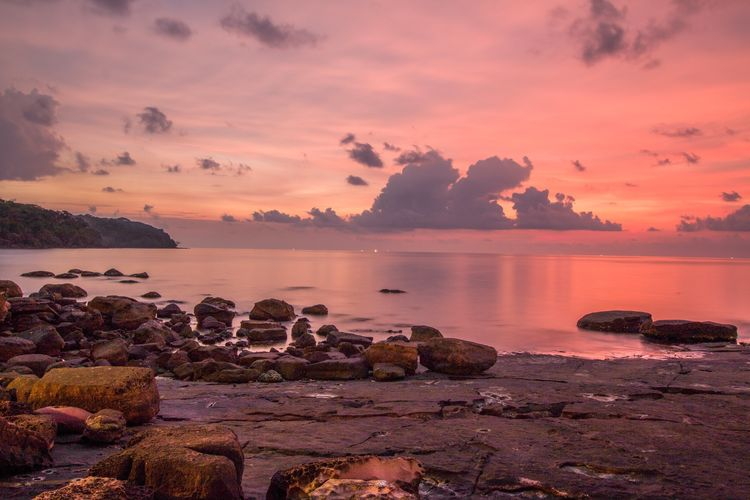 Sunset Pink Sky Vanilla Sky Koh Kood Thailand Beach Sea Long Exposure Water Reflections Landscapes With WhiteWall Spotted In Thailand The KIOMI Collection EyeEm Best Shots