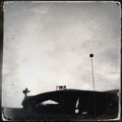 Blackandwhite Hipstamatic Lenka JFK Airport Saarinen