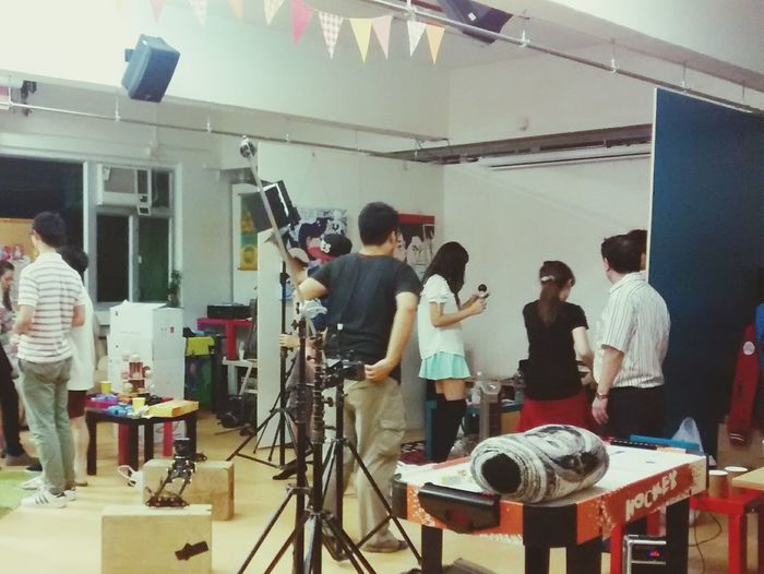 Video Shoot Setting Up Work Music Video Busyness Messiness
