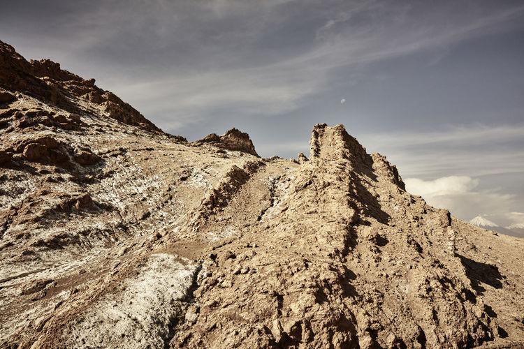 Rock formations at valle de la luna
